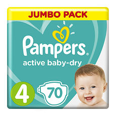 Подгузники Памперс (Pampers) Актив Бэби-Драй миди (5-9 кг), упаковка ... a372b595e41
