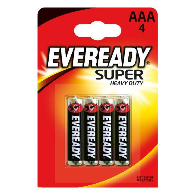Батарейка мизинчиковая AAA солевая Eveready SHD  (блистер 4 шт)